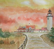 Highland Lighthouse Truro-cape Cod by Warren  Thompson