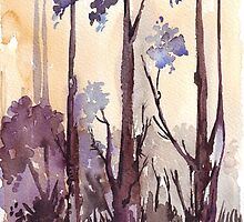 Silvery shadows in the Bluegum bush by Maree  Clarkson