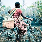 Biking Mom, Mozambique by Tim Cowley