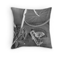 Parked. Throw Pillow