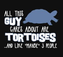 All this guy cares about are tortoises... (White & Blue) by Iceyuk