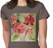 Hibiscus flowers Watercolor original in impressionism Womens Fitted T-Shirt