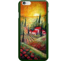 Tuscan Village, Italian Pastel Landcape  iPhone Case/Skin