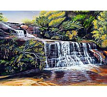 The Cascades, Blue Mountains Photographic Print