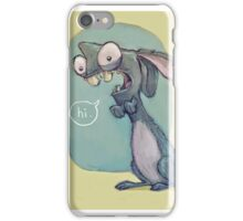 Crazy Bunny, Wild rabbit iPhone Case/Skin