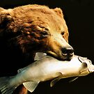 Grizzly Bear Photo Painting  by Dennis Stewart