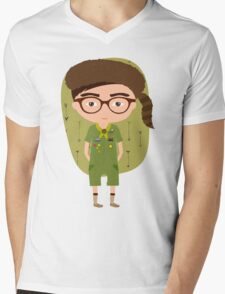 Moonrise Kingdom Sam Shakusky Mens V-Neck T-Shirt