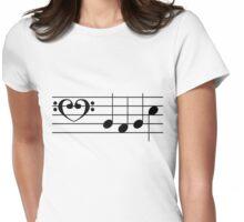 b a b e (Black on White/Colour Version) Womens Fitted T-Shirt