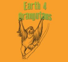 Hanging Orangutan by Earth 4 Orangutans E40