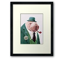 Walrus Green Framed Print
