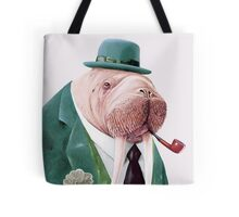 Walrus Green Tote Bag