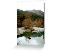 The Elwha River  Greeting Card
