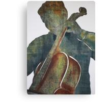 Printmaking: Cellist Canvas Print