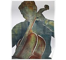 Printmaking: Cellist Poster