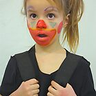 Little girl with painted face by gregorydean