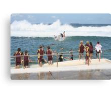 King Tide at Newcastle Baths Canvas Print