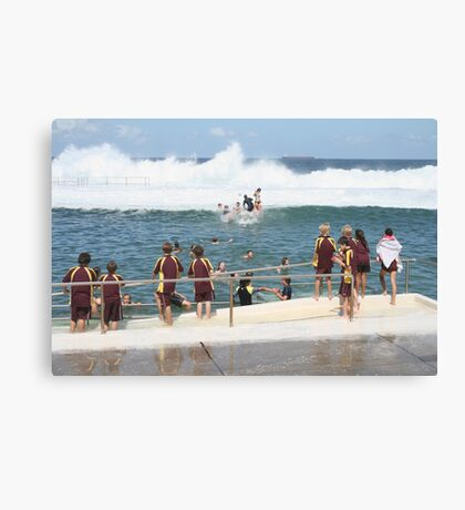 King Tide at Newcastle Baths Canvas Print