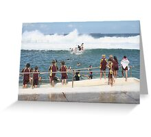 King Tide at Newcastle Baths Greeting Card