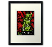 shoot first.. kiss them later Framed Print