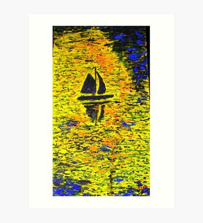 Ocean of light Art Print