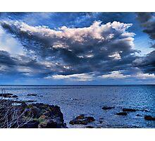 Nuvole sul mare al tramonto Photographic Print