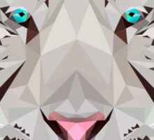 Low-Poly White Tiger Sticker