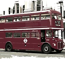 Double Decker Illustration by Rares Constantin Nistor
