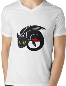 Toothless Mens V-Neck T-Shirt