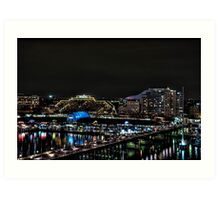 Lights of Darling Harbour, Sydney, NSW, Australia Art Print