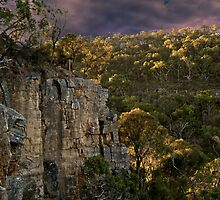 Dallas fooling around on Asgard, Far Crag, Morialta by John Shortt-Smith