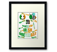 happy2bee eating a full irish breakfast Framed Print