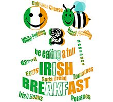 happy2bee eating a full irish breakfast Photographic Print