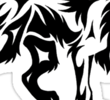 Wolf Tribal Pattern Sticker