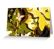 Summer background  Greeting Card