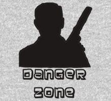 Danger Zone Black Print Kids Clothes