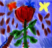 Butterflies and a Rose by Rajee