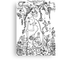 Miss Millie's Greatest Show On Earth (illustration) Canvas Print