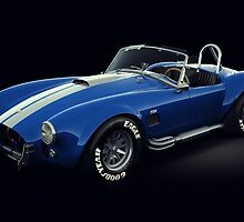 Shelby Cobra 427 Blue with White Stripe by Marc Orphanos