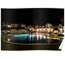 fairways timeshare at night in tenerife Poster