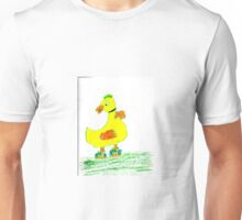 Whimsy duckie learning to swim! Unisex T-Shirt