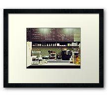 The Organic Café Framed Print