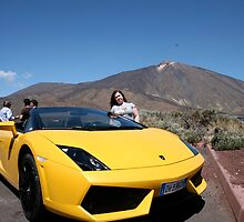 Lamborghini by mount teide in Tenerife by Keith Larby