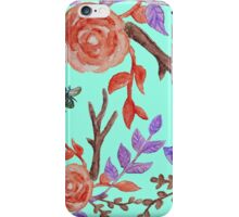 Fall Floral Watercolor iPhone Case/Skin