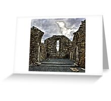 St Kevins Cathedral Glendalough Greeting Card