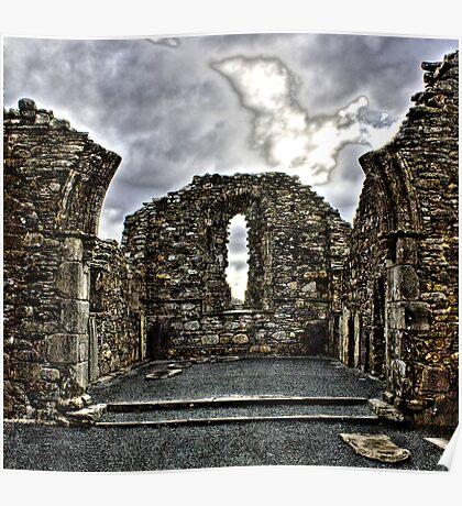 St Kevins Cathedral Glendalough Poster