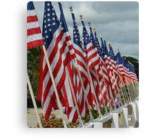 USS Missouri Flag Canvas Print