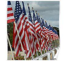USS Missouri Flag Poster