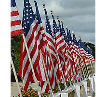 USS Missouri Flag Photographic Print