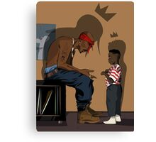 2pac Ft Kendrick Canvas Print