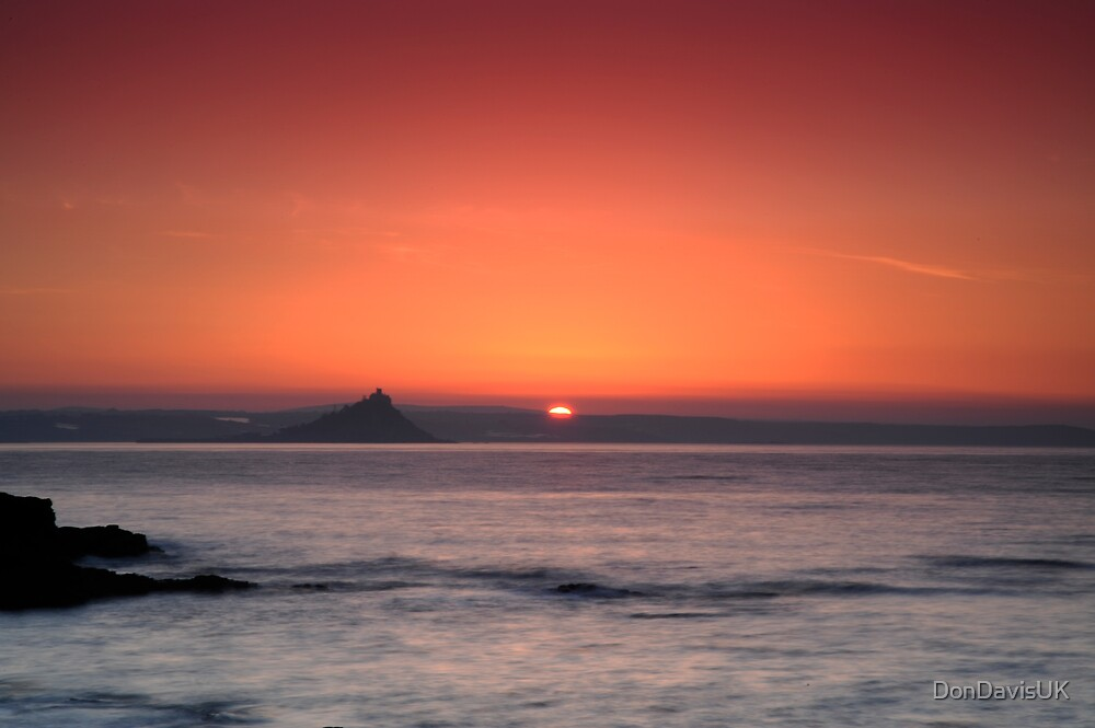 Sunrise St Michael's Mount: Penzance Cornwall UK by DonDavisUK